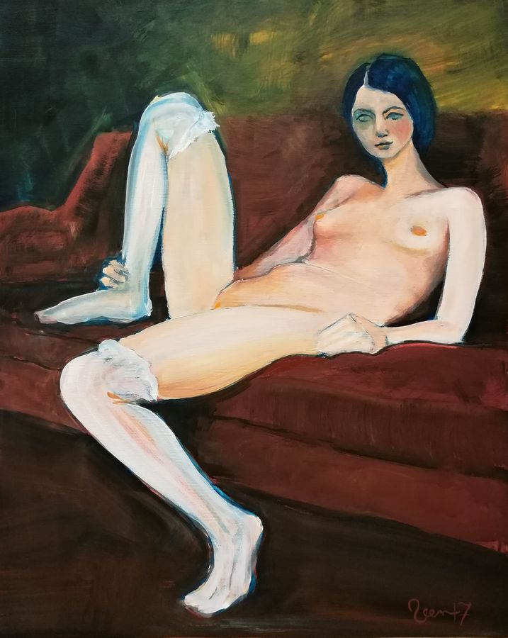 Nude in sofa